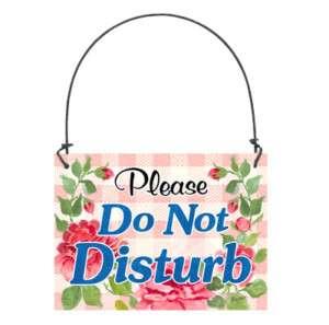 Do Not Disturb Small SIGN Doorhanger Cottage USA Made
