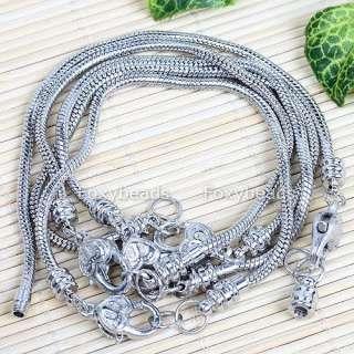 5X Lobster Clasp Bracelet Fit Charm Bead Jewelry DIY @@