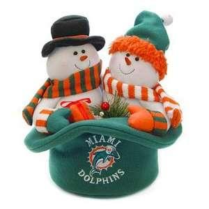Miami Dolphins Snowmen Top Hat