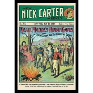 Paper poster printed on 20 x 30 stock. Nick Carter Black Madges Hobo
