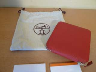 HERMES Silk n Leather Brides De Gala Silkypop Purse Bag Brand New $