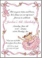 Personalized BALLERINA BALLET Note Cards Stationery
