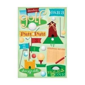 Karen Foster Miniature Golf Cardstock Stickers 5.5X9 Sheet KF10825