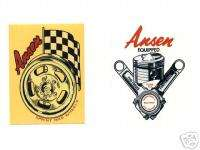 Ansen Vintage Stickers Decal race hor rat rod Lot cool wheel piston