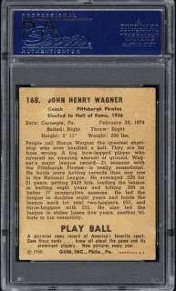 1940 Play Ball #168 Honus Wagner Auto PSA/DNA NM MT 8