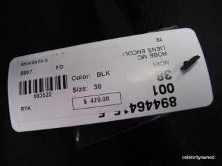 NWT Sonia Rykiel Black Ramie S/S Dress sz 38 $420