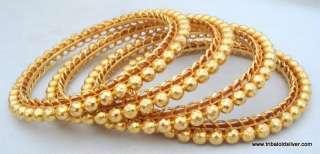 RARE VINTAGE ANTIQUE ETHNIC TRIBAL SOLID 22 CT GOLD BRACELET BANGLE