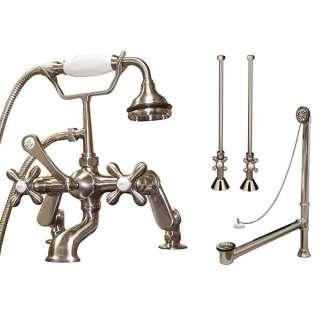 Clawfoot Tub Deck Mount Faucet, Drain & Supply Line Set