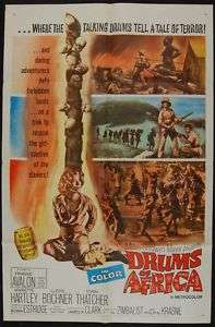 DRUMS OF AFRICA 1963 Frankie Avalon MOVIE POSTER