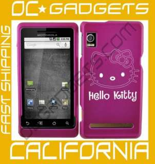 HELLO KITTY PINK HARD COVER CASE MOTOROLA DROID 2 A955