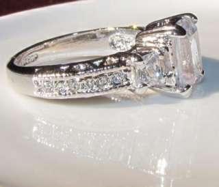engagement wedding Ring use swarovski crystal 18K white gold GP R23