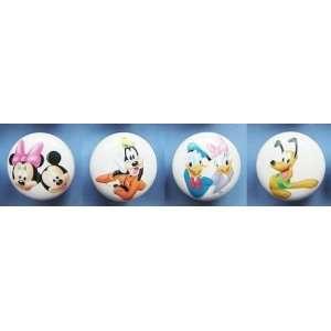 New 4pc Mickey Minnie Mouse Pluto Goofy & Donald Daisy Duck Ceramic