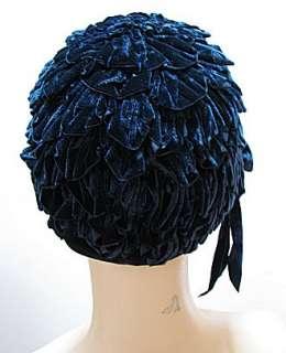 VINTAGE 30s NAVY BLUE, Duby DESIGNER, HAT,CAP #1100