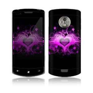 LG Optimus 7 (E900) Decal Skin   Glowing Love Heart