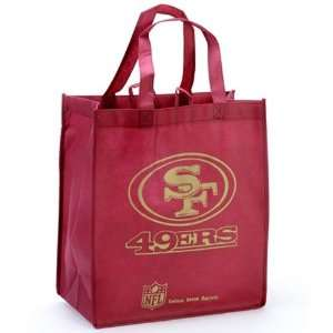 San Francisco 49ers Cardinal Reusable Tote Bag Sports