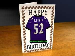 National Football League NFL Birthday Card / Greetings Card