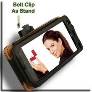 Case+Car Charger+Screen Protector for Motorola ATRIX 4G MB860 Wallet