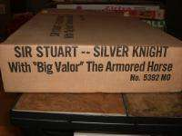 MARX SIR STUART SILVER KNIGHT & BIG VALOR ARMORED HORSE ACTION FIGURE
