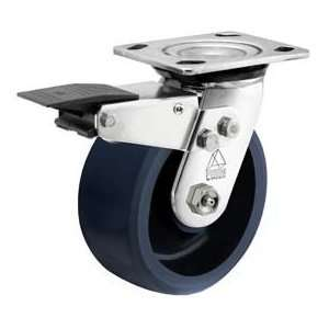 Bassick Prism Stainless Steel Total Lock Swivel Caster, Solid Urethane