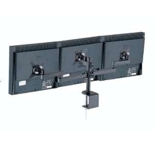 Three LCD Monitor Desk Mount Adjustable Double Arm: Office Products