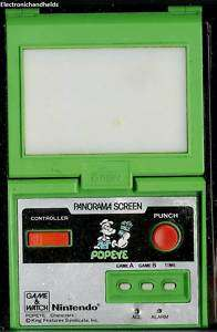 POPEYE panorama electronic handheld game & watch by Nintendo. Fully