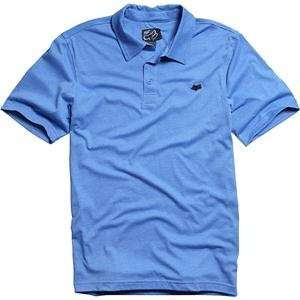 Fox Racing Mr. Clean Polo Shirt   Small/Heather Blue Automotive