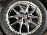 Four 03 10 Porsche Cayenne Factory 19 Wheels Tires Platinum ICJ3 Rims