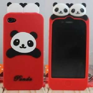 ECOMGEAR(TM)Cute PANDA Soft Silicon Back Case Cover skin for iPhone 4