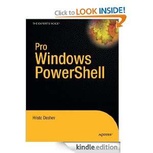 Pro Windows PowerShell: Hristo Deshev:  Kindle Store