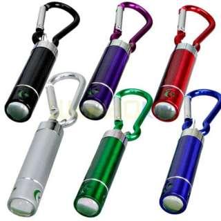 Lot of 6 Mini 1 LED Moon Star Shape Keychain Ring Flashlight Torch