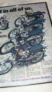 1975 Evel Knievel Harley Davidson Motorcycle Advertisement Sales Flyer