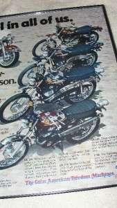 1975 Evel Knievel Harley Davidson Motorcycle Advertisement Sales Flyer