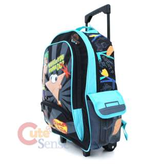Phineas & Ferb School Roller Backpack Rolling Bag  16