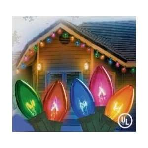 100 Commercial Length Multi Color LED C9 Christmas Lights on Spool
