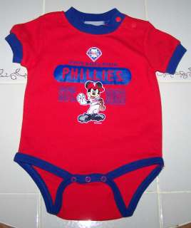 Nwt Philadelphia Phillies Baseball MLB Disney Mickey Top Shirt Romper