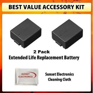 Pack Of Li Ion Extended Life Replacement Battery for Panasonic