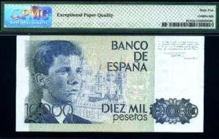 Juan Carlos, P 161, 10,000 Pesetas,1985 87, GEM UNC, PMG65 EPQ