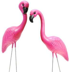 Party By Fun Express Pink Flamingo Yard Ornaments