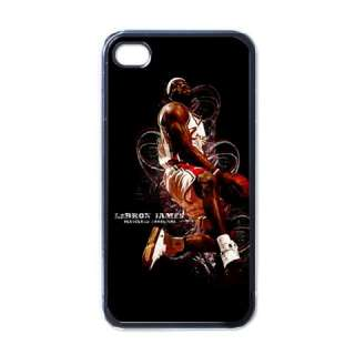 New LeBRON JAMES NBA Player Black iPhone 4 Hard Case #