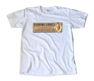 Vintage Paw Paw Fishing Lures Decal T Shirt   Indian
