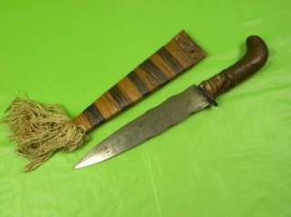 Antique African or Philippine knife dagger sword
