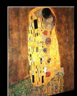 GUSTAV KLIMT THE KISS LG FINE ART CANVAS GICLEE REPRO