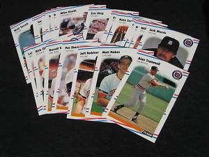 1988 Fleer Detroit Tigers Team Set