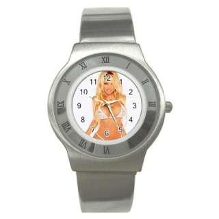 Pamela Anderson Stainless Steel Wrist Watch Unisex Gif