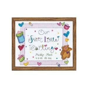 Darling Baby Birth Record Counted Cross Stitch Kit Office