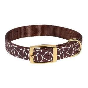 Wild Side Giraffe Print Dog Collar   6 8