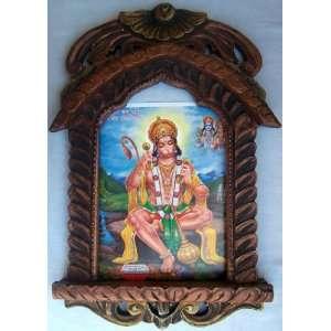 Pawan Putra Hanuman doing meditation of Sita & Ram poster