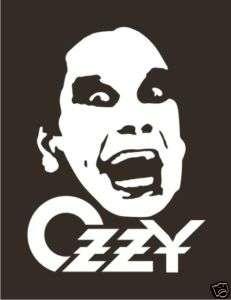 Ozzy Osbourne Decal Sticker Car Truck Window Laptop
