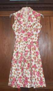 WOMENS VINTAGE DRESS 1930S 1940S CUSTOM HAND MADE Floral Pattern