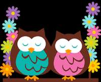 OWL TREE BROWN PINK PURPLE BUTTERFLY BABY NURSERY WALL ART MURAL